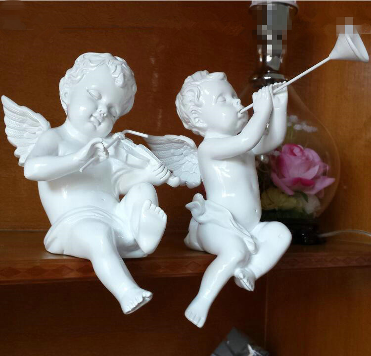 Ornaments christmas angel decorations cupid figurine for Angel decoration