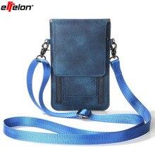 Effelon 6.3 «Универсальный кожаный телефон сумка карман кошелек Чехол шейный ремень для iPhone 5 6S плюс Для LG Huawei/ZTE