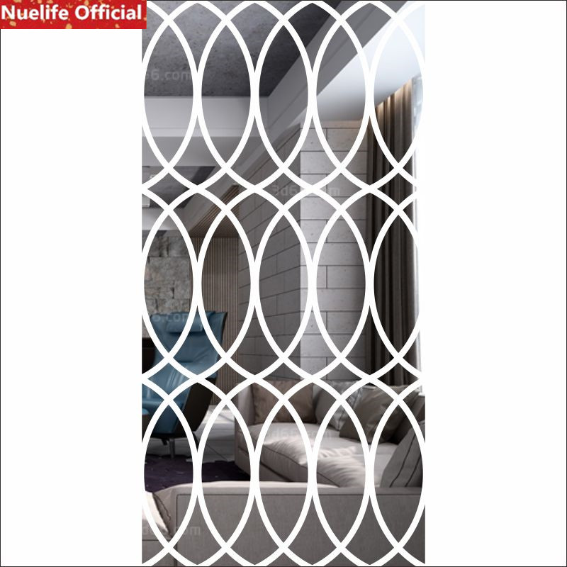Large oval pattern acrylic mirror stickers office living room dining room bedroom TV background wall decoration wall stickers - 6