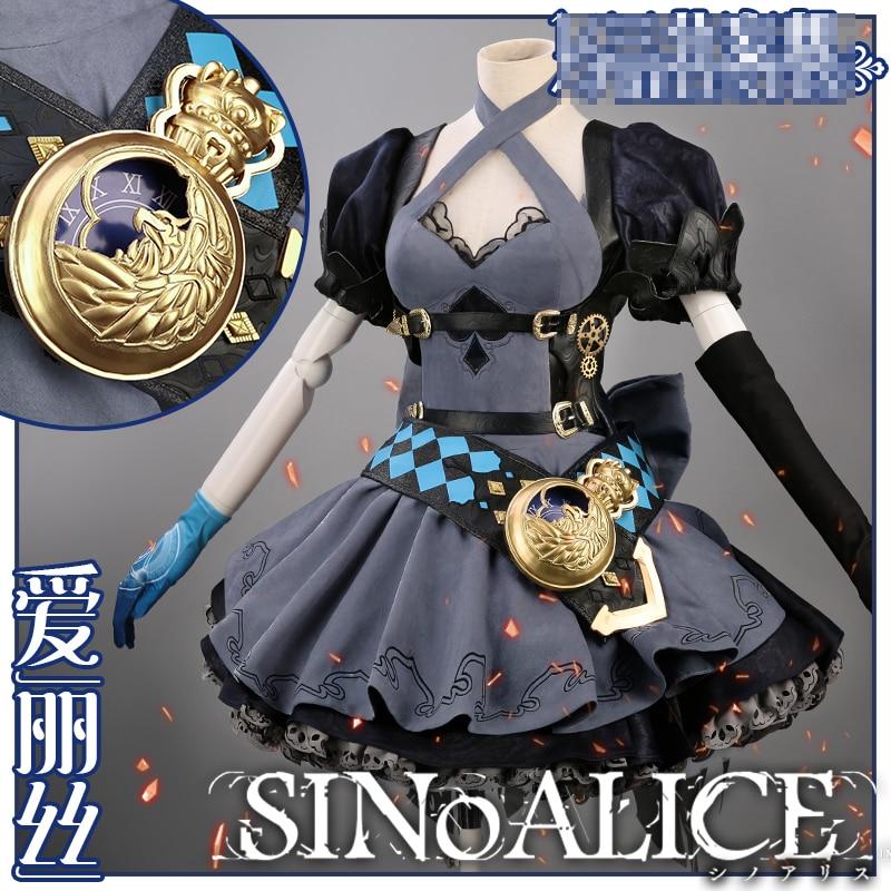 SINoALICE Alice Game Lolita Uniforms Gothic Cosplay Costume Halloween Women Fancy Dress Free Shipping