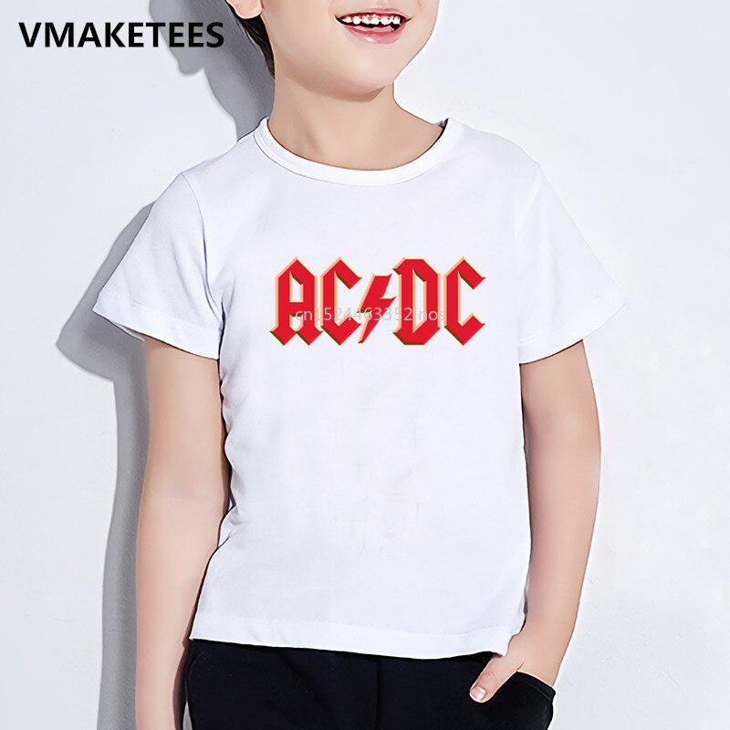 Детская летняя футболка с коротким рукавом для девочек и мальчиков, Детская футболка с буквенным принтом переменного/постоянного тока, мод...