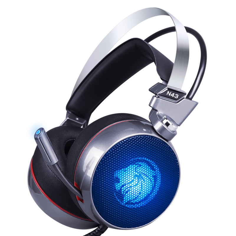 Lionny N43 Gaming Headset 7.1 Virtual Surround Sound USB Gaming Headphone with Mic LED L ...