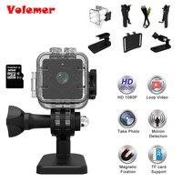 Volemer 새로운 핫 HD 1080 마력 미니 카메라 SQ12 광각 방수 미니 캠코더 DVR 미니 비디오 카메라 스포츠 카메라 마이크로 카메