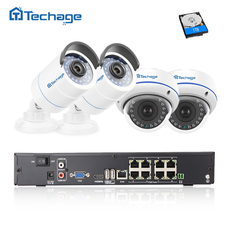 Techage 8CH 1080P POE NVR 2.0MP CCTV System Vandalproof Dome Indoor/ Outdoor IP Camera P2P Waterproof Security Surveillance Kit oliver ramsbotham humanitarian intervention in contemporary conflict