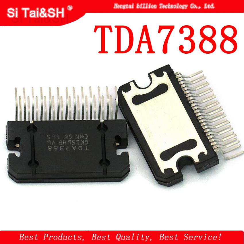 2pcs/lot TDA7388 7388 ZIP 4 X 41W Bridging Car Audio Amplifier IC