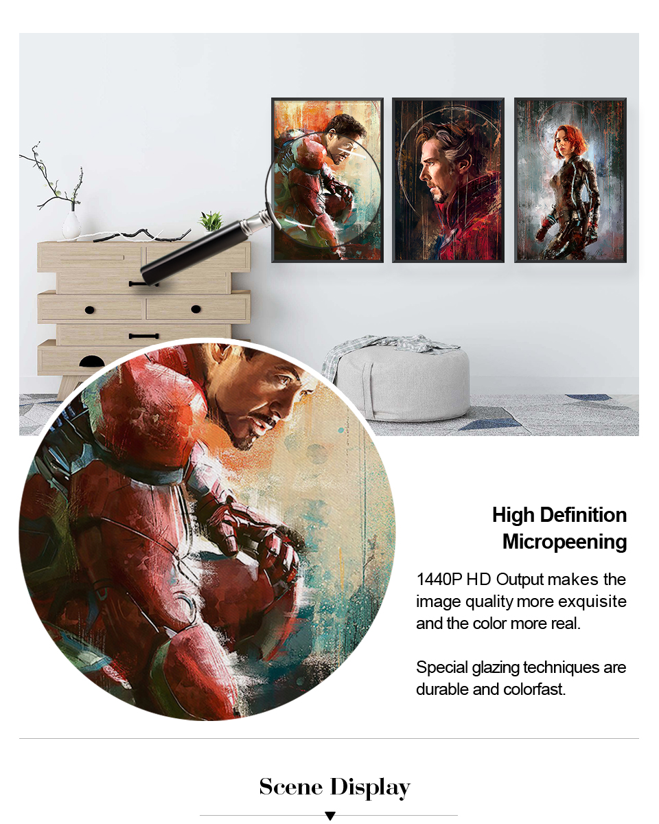 Настенный художественный холст с печатью постера, настенные картины для домашнего декора, Марвел, Мстители, фильм супергерой, Дэдпул, Железный Человек-паук, Локи