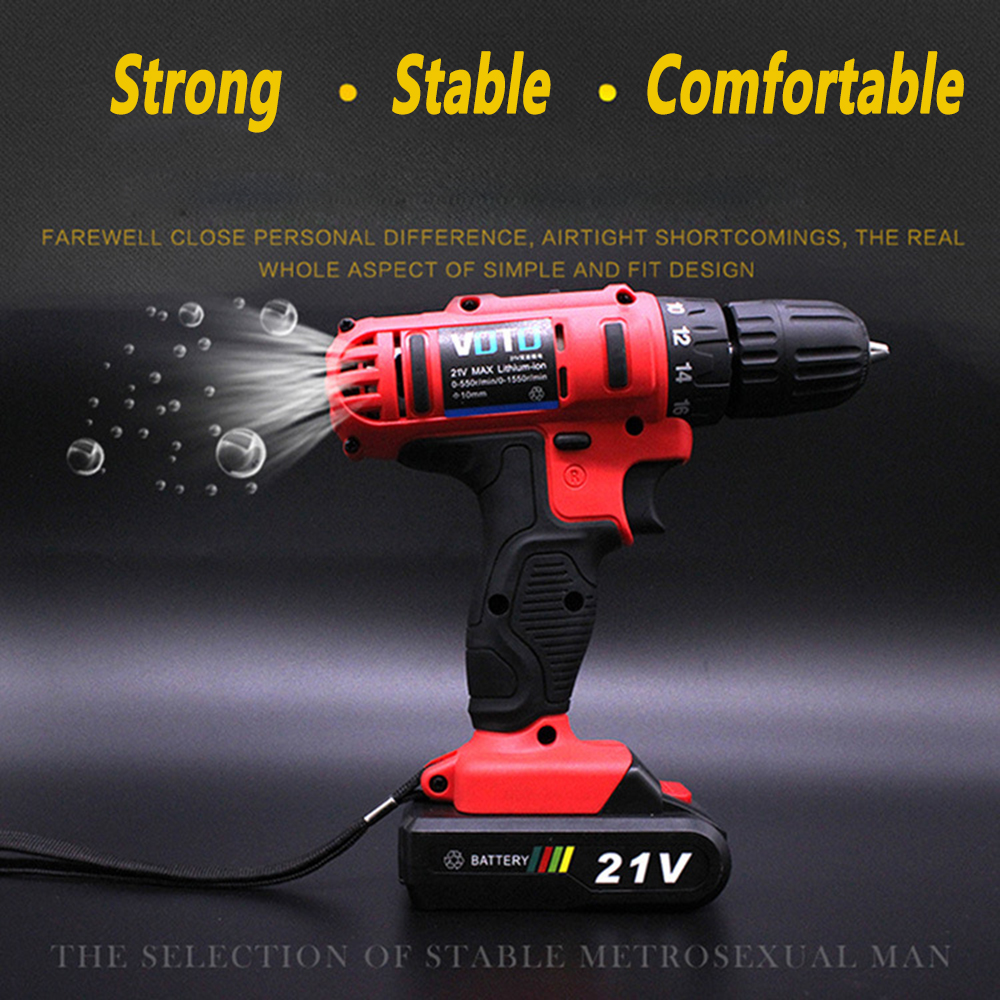12V Lithium Dual Speed Cordless Drill Rechargeable Electric Screwdriver Tools EU UK US AU