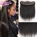 7A Indian Straight Virgin Hair 13*4 Lace Frontal Closure with Baby Hair 8inch-20inch Human Hair Lace Frontal Knots Bleached