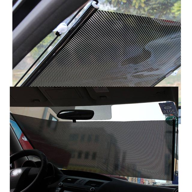 58*125CM Automobile Retractable Side Window Sunshade Car Sun Block Solar Protection Cover Front Windshield UV Protect Curtain 2
