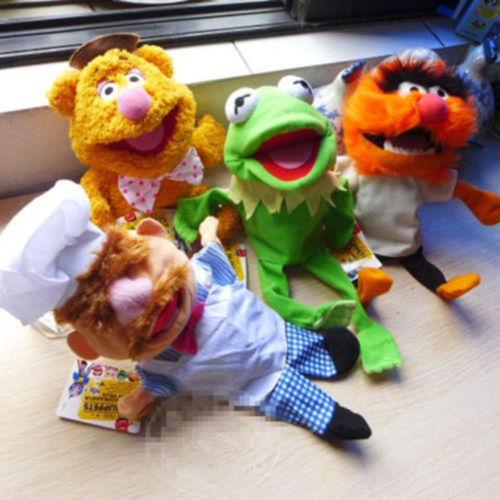 Puppet Kermit Swedish Chef Plush Baby Miss-Piggy Bear Toys Stuffed Kids Gonzo Frog 28cm