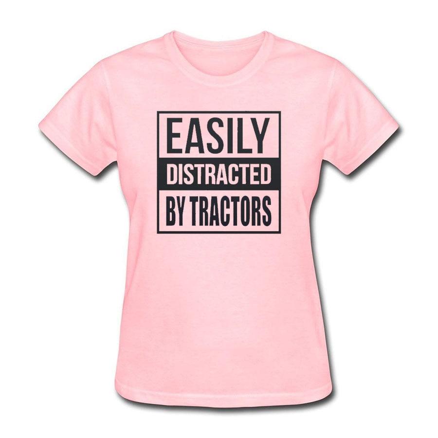 Женская футболка панк легко отвлекаться на тракторов Письмо печати Baratas женский для футболка одежда для пар Топы корректирующие распродажа