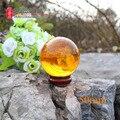 Envío Gratis 50mm 80g Naranja Acrílico Bola Que Hace Juegos Malabares de Contacto Malabares Mágica bola de luz bola de cristal (Naranja 5 cm)