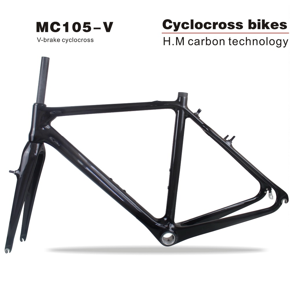 MIRACLE 2018 Tapered tube 700c Carbon Cyclocross Frame/fork V-brake Cyclocross carbon bike frame 3K/UD Di2 carbon CX frame монитор benq ex3501r