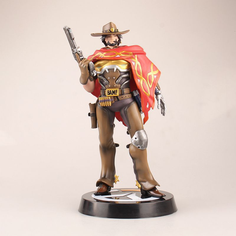 Free Shipping 11 Hot Game Hero Jesse Mccree Boxed 28cm PVC Action Figure Collection Model Doll Toy Gift new hot christmas gift 21inch 52cm bearbrick be rbrick fashion toy pvc action figure collectible model toy decoration
