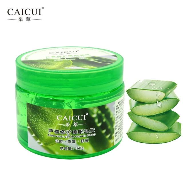2 pcs lot caicui aloe vera plant sleep mask gel cream face mask essence moisturizing repair. Black Bedroom Furniture Sets. Home Design Ideas