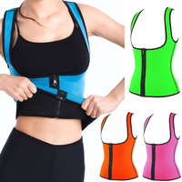 Hot Corset Body Shaper Neoprene Waist Trainer Underbust Zipper Slimming Shapewear Yoga Wear Women Plus Size