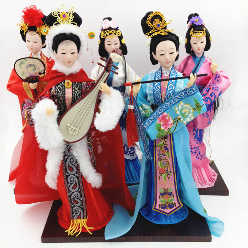 Ancient Chinese dolls Four Beauties Doll ancient Chinese women Authentic simulation dolls for girls Beautiful collectible dolls 12 pretty chinese ancient bride dolls collectible tang dynasty bride toys bjd doll dress girl dolls wedding gifts