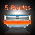 4 Pcs 5 Слоев Лезвия Безопасности Совместимость Бритвенных Лезвий для Мужчин Замена Станок для бритья Парикмахерская Ножи Человек Точилка Ножи Инструмент