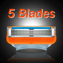 4Pcs 5 Layer Blades Safety Compatible Razor Blades for Men Replacement Shaving Machine Barber Knives Man Sharpener Knives Tool