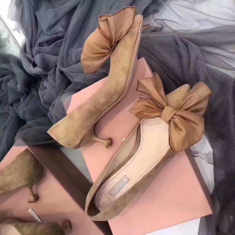 Hauts Sur Chaussures Chaton noeud Kmeioo Soirée Slip 2019 Pointu Noeud Mariage Papillon Bout Talons Spéciale De Offre Pompes Femmes wqSTOz