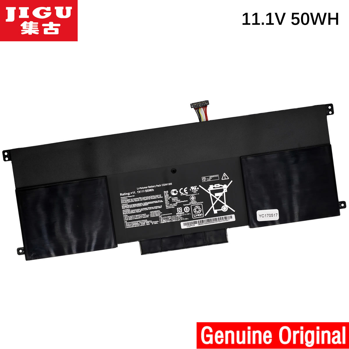 JIGU laptop battery FOR ASUS C32N1305 C32NI305 UX301LA FOR Zenbook UX301L UX301LA UX301LA4500 jigu laptop battery for dell 8858x 8p3yx 911md vostro 3460 3560 latitude e6120 e6420 e6520 4400mah