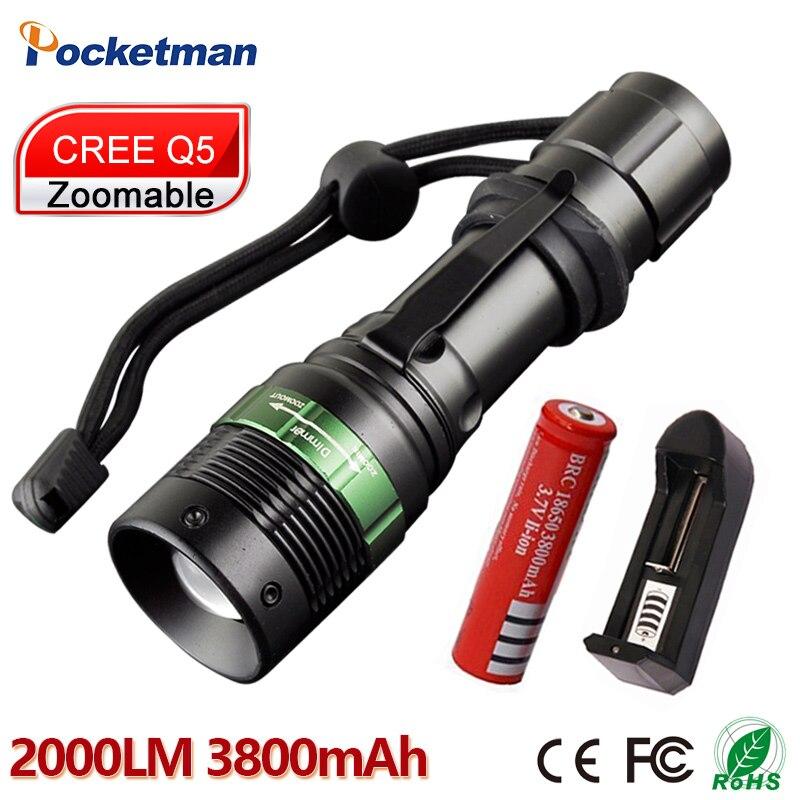 Мощный светодиодный фонарик CREE Q5 тактический фонарь 18650 Портативный светодиодный фонарик <font><b>zaklamp</b></font> Taschenlampe torcia для велосипеда