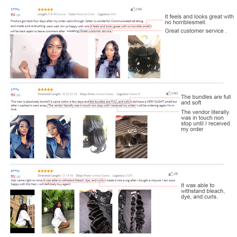 Brazilian Hair Body Wave 3 Bundles With Closure Human Hair weave bundles with frontal Lace Closure remy hair Extension BIGSOPHY
