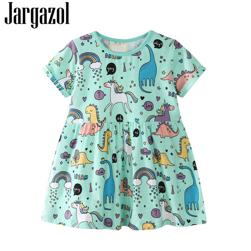 Baby   Girls     Dress   Top Tees Short Sleeve   Dress   Cute Cartoon Characters Summer   Flower     Girls     Dresses   Kids Clothes Clearance Sale