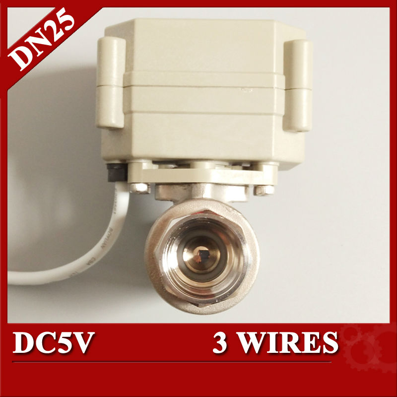 ФОТО 1''  DC12V automatic valve, 3 wires(CR301) 2 way motorized ball valve, SS304 BSP/NPT  thread electric valve for water filter