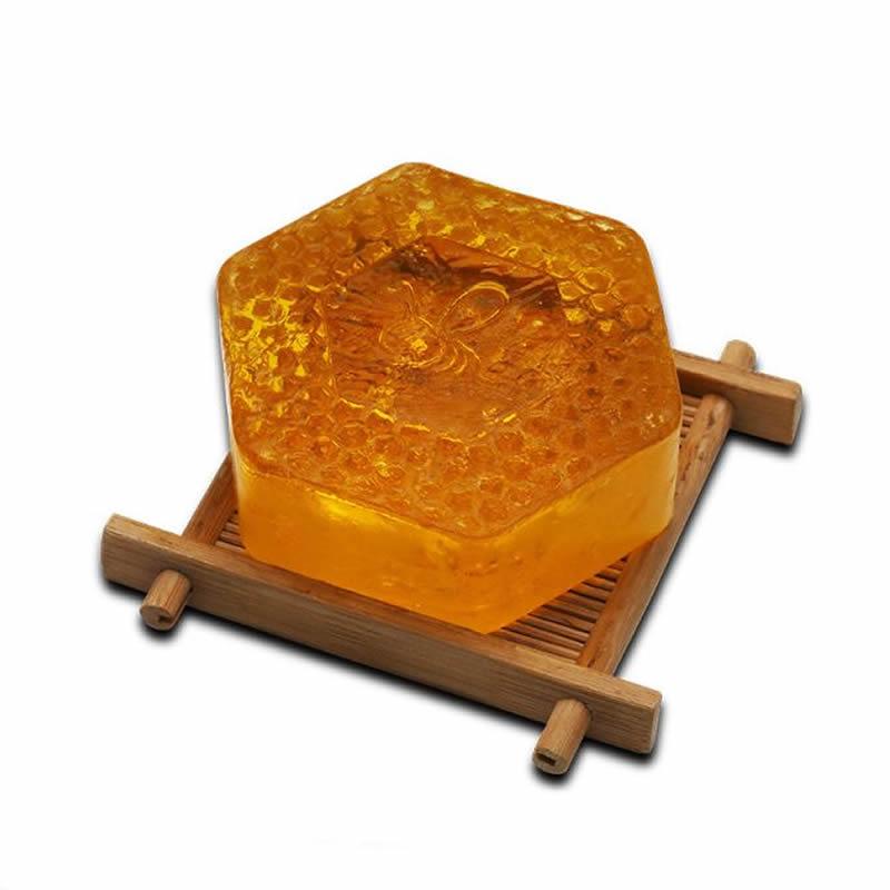 DUAI 100g Handmade Honey Soap Deep Cleansing Face Whitening Moisturizing Oil-Control Facial Soap