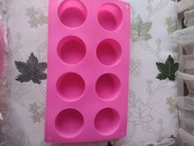 continuous cylindrical round soap mould pier single hole diameter 5.8cm hand made silicone mold