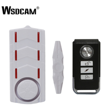Wsdcam Wireless Rechargeable Vibration and Magnetic Alarm Anti Theft Remote Control Door And Window Security Alarm