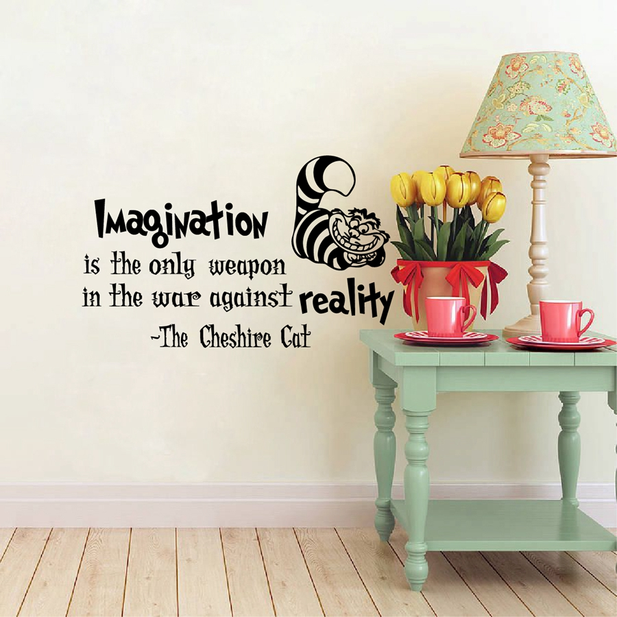 Aliexpress.com : Buy Alice In Wonderland Wall Decals Cheshire Cat Quotes   Part 60