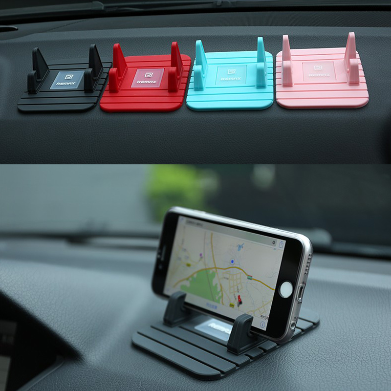 REMAX Soft Silicone Mobile Phone Car Holder mount Stand Bracket Dashboard GPS Anti Slip Mat Desktop for iPhone 5s 6 7 in Phone Holders Stands from Cellphones Telecommunications