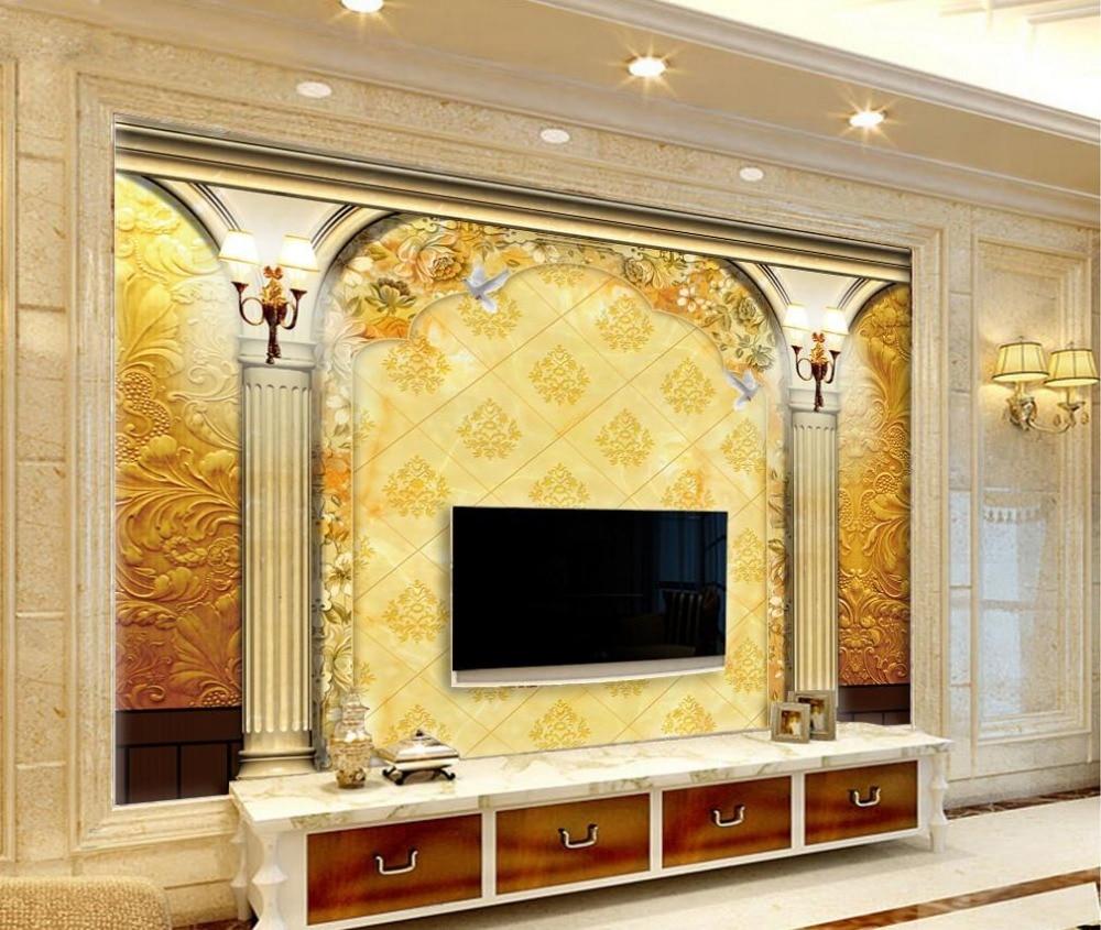 3d wallpaper for room european style roman column backdrop for Door mural wallpaper