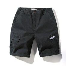 Hot Sale 2019 Cotton Men Casual Shorts Elastic Waist Male Homme Solid Summer Short Comfortable Pockets LJF