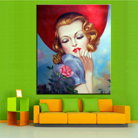 Large sizes NO-1102 Classic Portrait Wall painting canvas for wall art decoration oil painting picture NO FRAME Home Printed