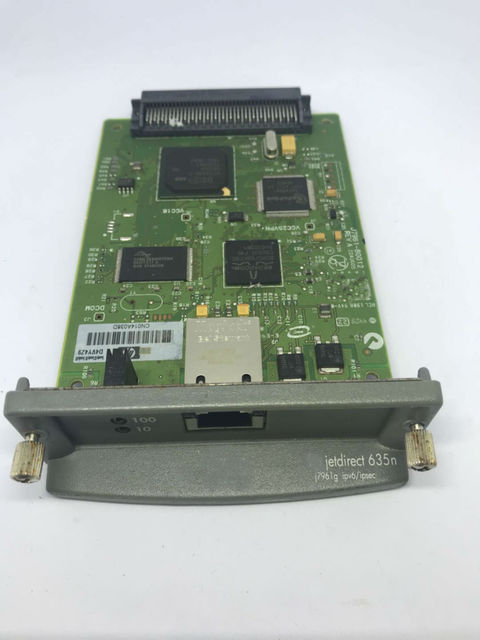 US $31 49 10% OFF|Used for HP Jetdirect 635n J7961G Print Server  10/100/1000 NETWORK CARD IPv4 IPv6-in Printer Parts from Computer & Office  on