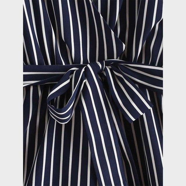 ZAFUL Striped Surplice Cami Romper Casual Brief Regular Striped Female Backless Playsuits Urban Shorts Summer Women Jumpsuits 4