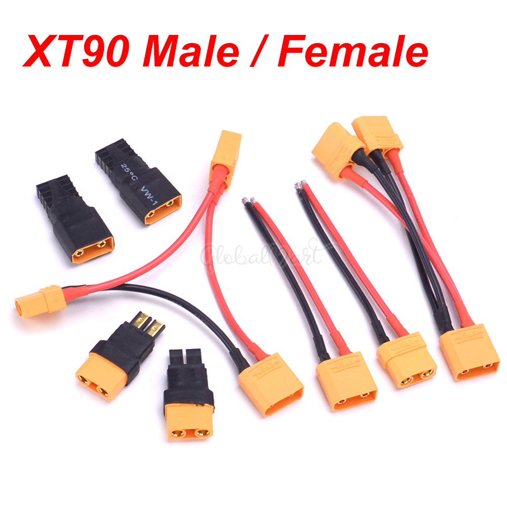 XT90 Connector Female / Male With 14AWG Wire / Traxxas Connector TRX Style For RC Lipo Battery Converter Adapter Connector Plug