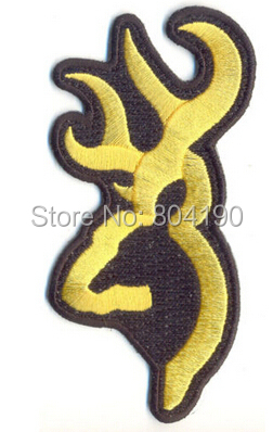 Browning Hunting Badge Deer Head Embroidered Motorcycle Biker Vest Patch SEW ON IRON ON Badge