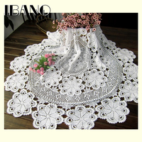 70 80 90 100CM RD Shabby Chic 5 Sizes Vintage Crocheted Tablecloth Handmade Crochet Coasters Cotton