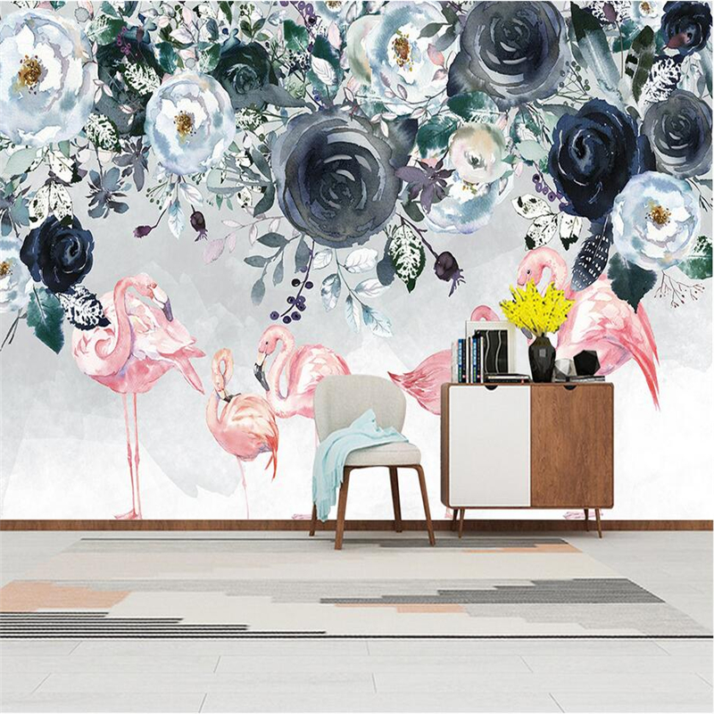Custom 3d Wall Murals Flamingo Rose Photo Wall Embossed Non-Woven TV Background Wall Mural Wallpaper Living Room Restaurant wdbh custom mural 3d photo wallpaper gym sexy black and white photo tv background wall 3d wall murals wallpaper for living room