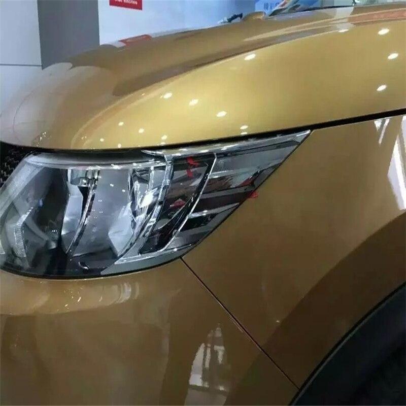 WELKINRY voiture auto couverture style pour Nissan Qashqai 2014 2015 2016 2017 ABS chrome avant lampe lumière paupière sourcil garniture