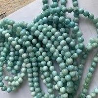 Natural larimar/Copper Pectolite GEM stone beads natural stone beads DIY loose beads for jewelry making strand 15 free shipping
