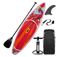 300x76x15CM 10FT SUP Inflatable Stand Up Surfing Board Soft Surf Paddle Board with Bag style