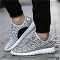 2016 Nuevo de Alta Calidad de Los Hombres y de Las Mujeres Zapatos Casuales de La Moda de Malla transpirable Zapatos Gris Negro de Encaje Plana, Además de Zapatos de Tamaño No Logo