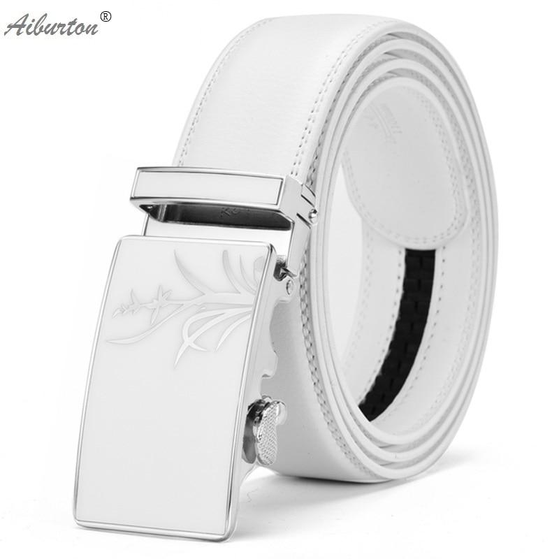 Horse Printing Man Belt Brand Leather Whs