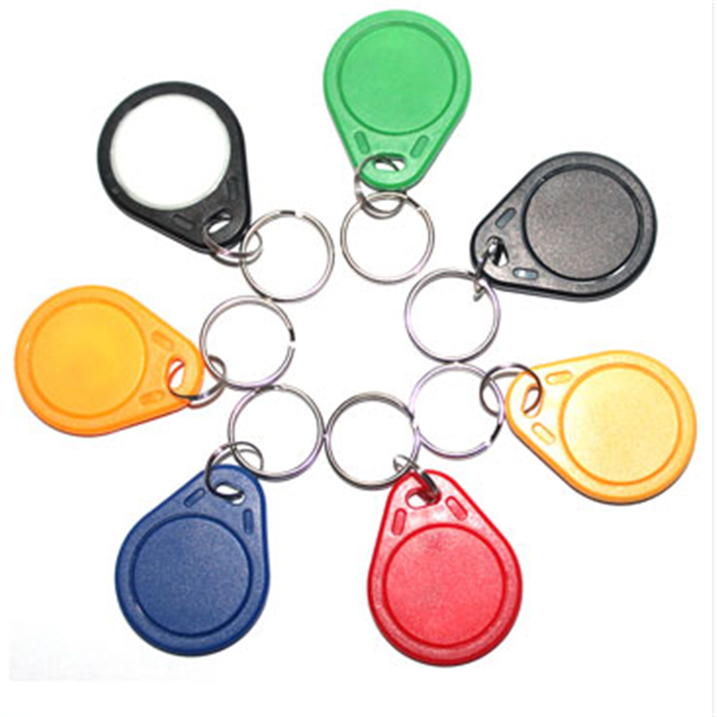 10pcs Handheld EM4100 125khz ID Keyfob RFID Tag Tags Access Control Card Porta TK4100 Sticker Key Fob Token Ring Proximity Chip