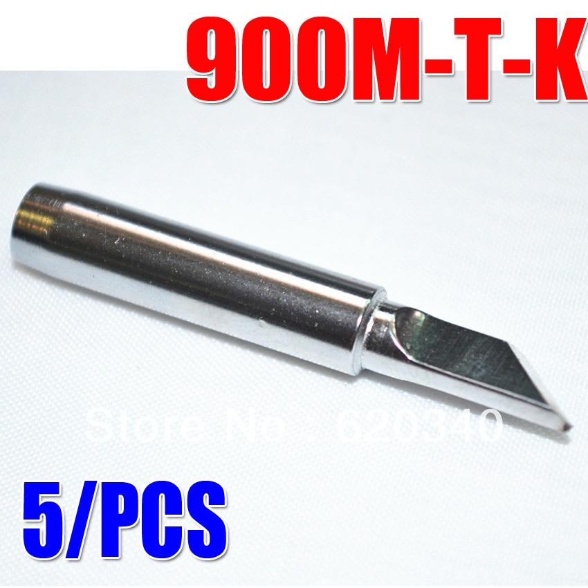 936 Lead Soldering Iron Head ESD 900M-T-K Knife Type Electric Soldering Iron Head Saike 852D+/909D/936 Etc.Free Shipping